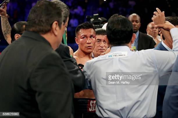 Francisco Vargas looks on after a WBC super featherweight championship bout against Orlando Salido at StubHub Center on June 4 2016 in Carson...