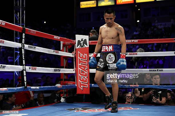 Francisco Vargas prepares to start a round against Orlando Salido during their WBC super featherweight championship bout at StubHub Center on June 4...