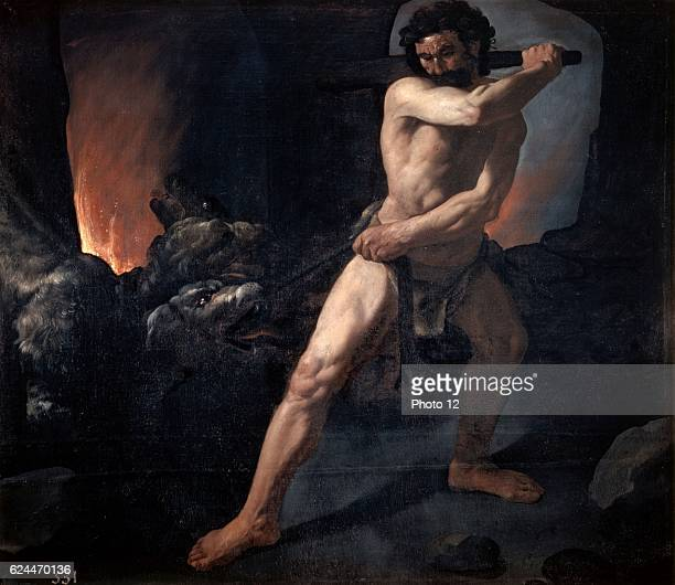 Francisco Zurbaran Spanish school Hercules and Cerberus 1634 Oil on canvas Madrid museo del Prado