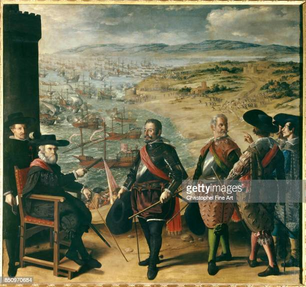 Francisco Zurbaran The Defence of Cadiz against the English 16341635 Oil on canvas 302 x 323 m Madrid museo del Prado