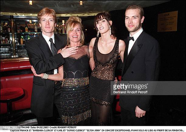 Franck and Barbara Clerico and Carl and Sophie Clerico Elton John exceptional Piano Solo concert at the Lido for the benefit of his foundation...