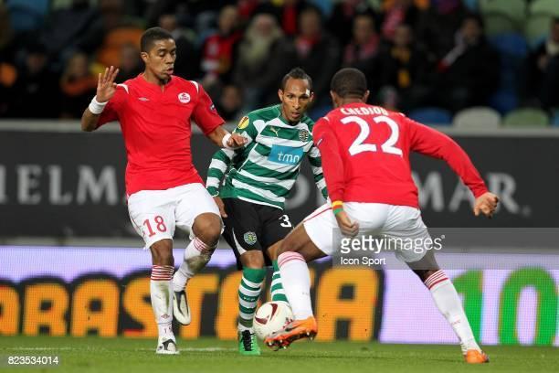 Franck BERIA / LIEDSON Sporting / Lille Ligue Europa 2010/2011 Lisbone
