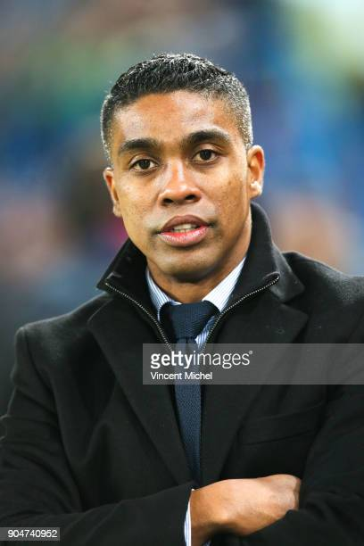 Franck Beria of Lille during the Ligue 1 match between Caen and Lille at Stade Michel D'Ornano on January 13 2018 in Caen France