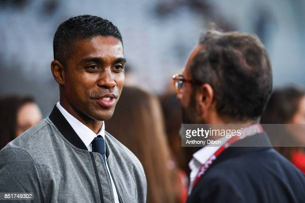 Franck Beria of Lille during the Ligue 1 match between Lille OSC and AS Monaco at Stade Pierre Mauroy on September 22 2017 in Lille