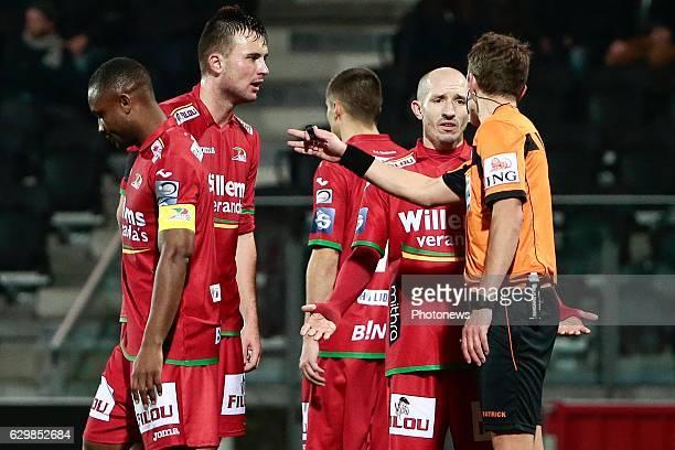 Franck Berrier midfielder of KV Oostende looks dejected during the Croky Cup quarter final match between KV Oostende and KAA Gent on December 14 2016...