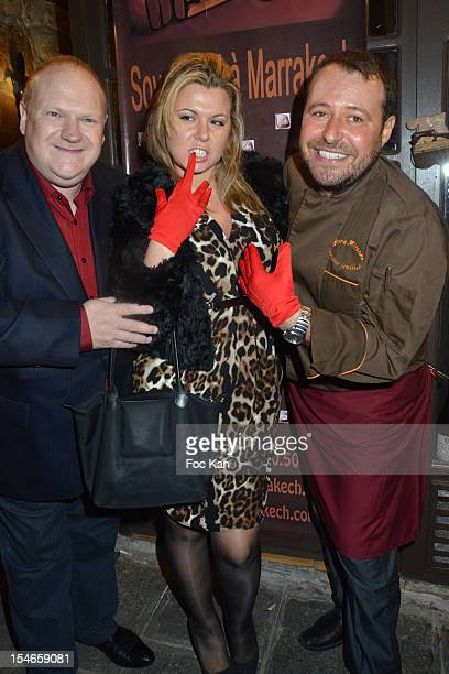 Franck de La Personne Cindy Lopes and Marc Mitonne attend the 'Les 10 Ans de Marc Mitonne' Party Hosted by '2 Mains Rouges' at the Marc Mitonne...