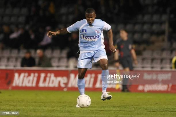 Franck DJA DJEDJE Nimes / Strasbourg 27eme journee de Ligue 2