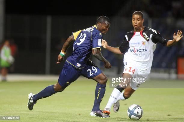 Franck DJA DJEDJE / Kevin MONNET PAQUET Arles Avignon / Lens 2eme journee de Ligue 1 Parc des Sports Avignon