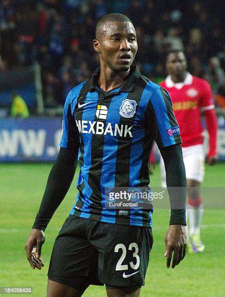 Franck Dja Djedje of FC Chornomorets Odesa in action during the UEFA Europa League group stage match between FC Chornomorets Odesa and PSV Eindhoven...