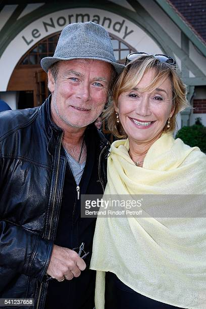 Franck Dubosc and MarieAnne Chazel attend the Hotel Normandy ReOpening at Hotel Normandy on June 18 2016 in Deauville France