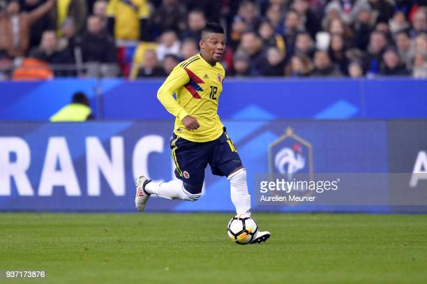 Franck Fabra of Colombia runs with ball during the international friendly match between France and Colombia at Stade de France on March 23 2018 in...