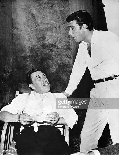 Franck Fernandel With his father Fernandel in France on July 2 1962