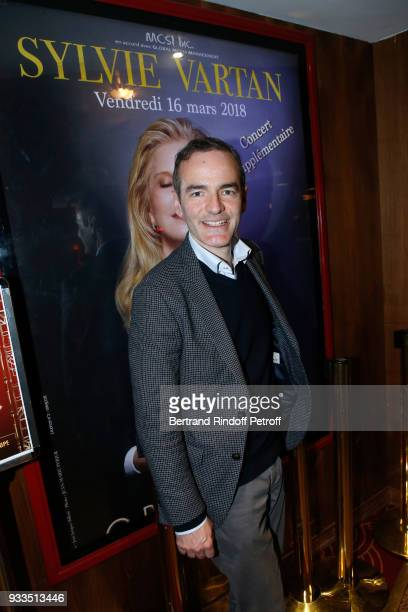 Franck Ferrand attends Sylvie Vartan performs at Le Grand Rex on March 16 2018 in Paris France