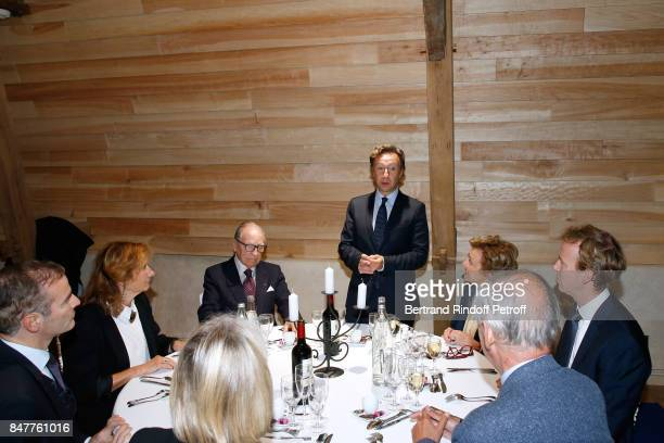 Franck Ferrand Chancellor of the 'Institut de France' Prince Gabriel de Broglie and Stephane Bern attend Members of the Stephane Bern's Foundation...