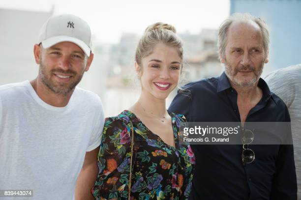 Franck Gastambide Alice Isaaz and Hippolyte Girardot attend the 10th Angouleme FrenchSpeaking Film Festival on August 26 2017 in Angouleme France