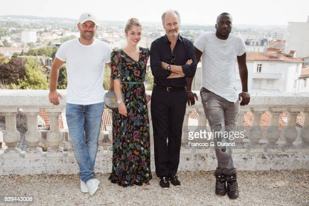 Franck Gastambide Alice Isaaz Hippolyte Girardot and Moussa Mansaly attend the 10th Angouleme FrenchSpeaking Film Festival on August 26 2017 in...