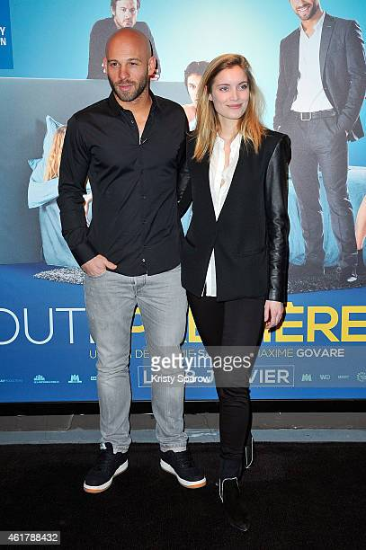 Franck Gastambide and Adrianna Gradziel attend the 'Toute Premiere Fois' Paris Premiere at UGC Cine Cite Bercy on January 19 2015 in Paris France
