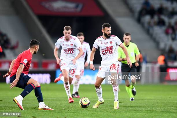 Franck HONORAT during the Ligue 1 Uber Eats match between Lille and Brest at Stade Pierre Mauroy on October 23, 2021 in Lille, France.
