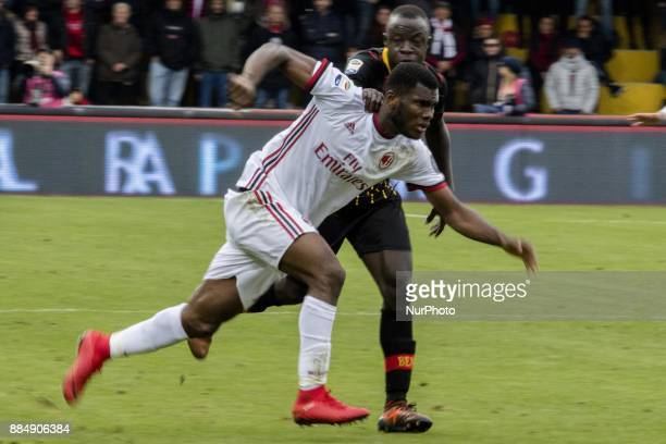 Franck Kessie AC Milan during the Serie A match between Benevento Calcio and AC Milan at Stadio Ciro Vigorito on December 03 2017 in Benevento Italy