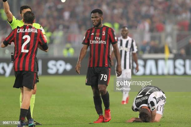 Franck Kessie during the Italian Cup final match between Juventus FC and AC Milan at Stadio Olimpico on May 09 2018 in Rome Italy Juventus won 40...