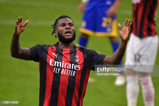 Franck Kessie of AC Milan during the Italian Serie A match between AC Milan v Parma on December 13, 2020