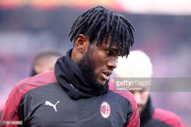 Franck Kessie of Ac Milan during the Serie A match between Ac Milan and Udinese Calcio Ac Milan wins 32 over Udinese Calcio