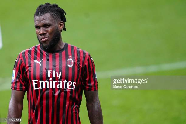 Franck Kessie of Ac Milan during the Serie A match between Ac Milan and Atalanta Bergamasca Calcio The match end in a tie 11