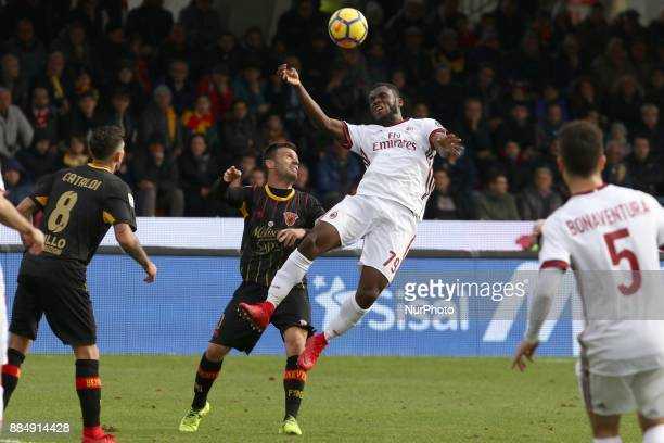 Franck Kessie of Ac Milan during the Serie A match between Benevento Calcio and AC Milan at Stadio Ciro Vigorito on December 03 2017 in Benevento...