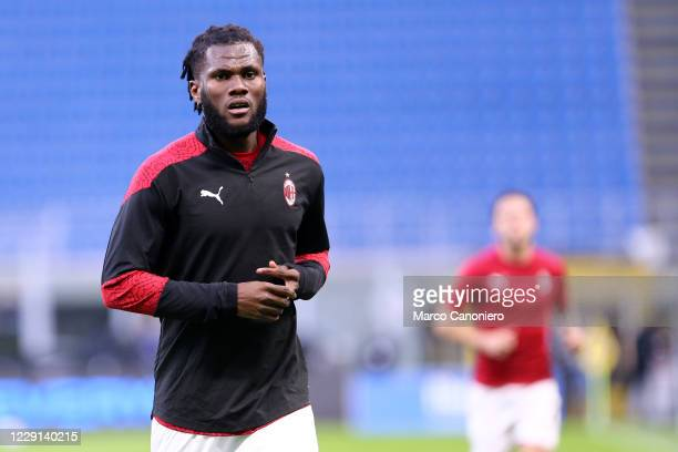 Franck Kessie of Ac Milan during the Serie A match between Fc Internazionale and Ac Milan Ac Milan wins 21 over Fc Internazionale