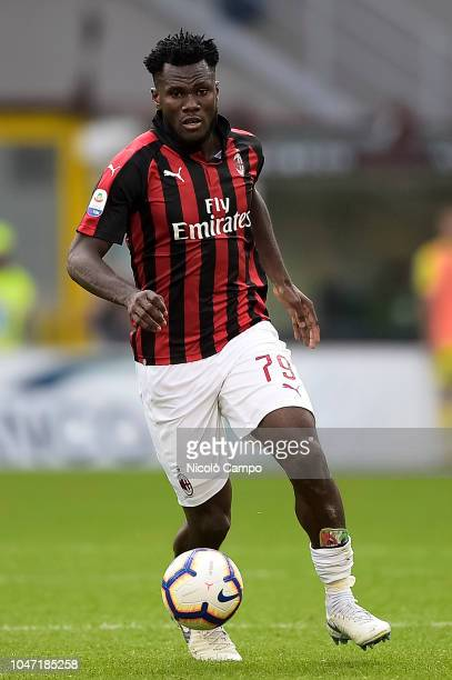 Franck Kessie of AC Milan in action during the Serie A football match between AC Milan and AC ChievoVerona AC Milan won 31 over AC ChievoVerona