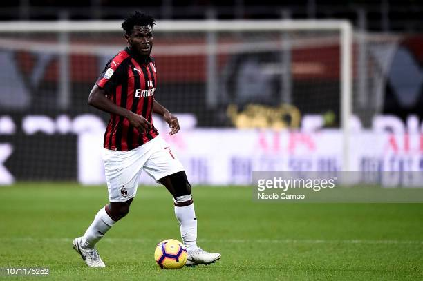 Franck Kessie of AC Milan in action during the Serie A football match between AC Milan and Torino FC The match ended in a 00 tie