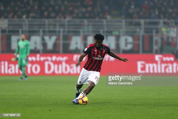 Franck Kessie of Ac Milan in action during the Serie A football match between AC Milan and Cagliari Calcio Ac Milan wins 30 over Cagliari Calcio
