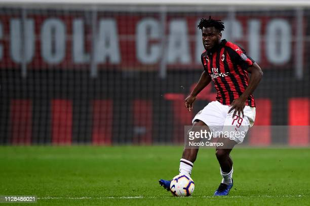 Franck Kessie of AC Milan in action during the Serie A football match between AC Milan and US Sassuolo AC Milan won 10 over US Sassuolo