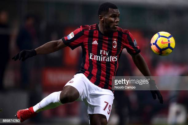 Franck Kessie of AC Milan in action during the Serie A football match between AC Milan and Bologna FC AC Milan won 21 over Bologna FC