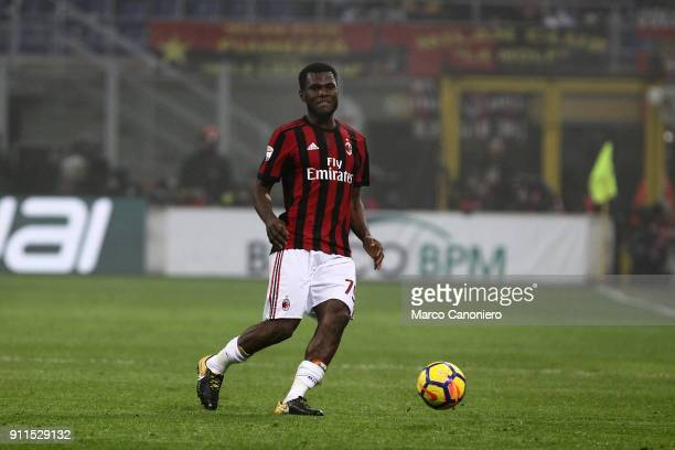 Franck Kessie of Ac Milan in action during the Serie A football match between AC Milan and SS Lazio Ac Milan wins 21 over Ss Lazio