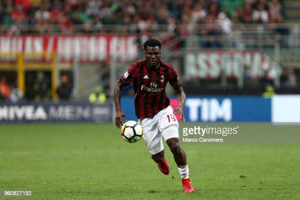 Franck Kessie of Ac Milan in action during the Serie A football match between AC Milan and Acf Fiorentina Ac Milan wins 51 over Acf Fiorentina