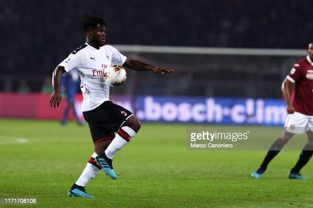 Franck Kessie of Ac Milan in action during the Serie A match between Torino Fc and Ac Milan Torino Fc wins 21 over Ac Milan