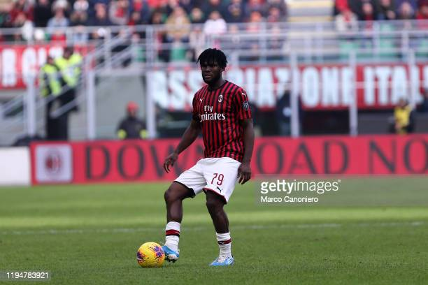 Franck Kessie of Ac Milan in action during the Serie A match between Ac Milan and Udinese Calcio Ac Milan wins 32 over Udinese Calcio