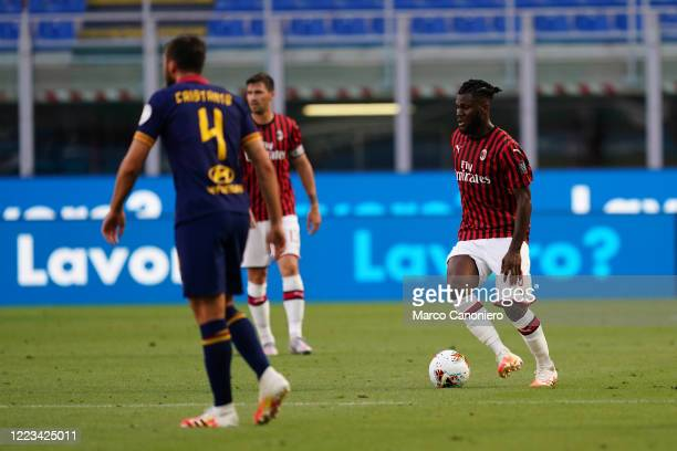 Franck Kessie of Ac Milan in action during the Serie A match between Ac Milan and As Roma Ac Milan wins 20 over As Roma