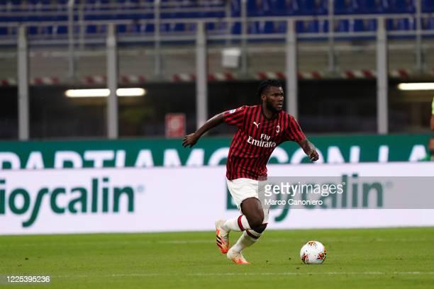 Franck Kessie of Ac Milan in action during the Serie A match between Ac Milan and Juventus Fc. Ac Milan wins 4-2 over Juventus Fc.