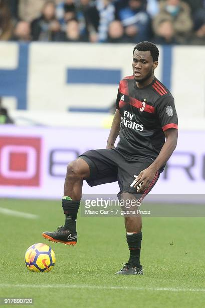 Franck Kessie of AC Milan in action during the serie A match between Spal and AC Milan at Stadio Paolo Mazza on February 10 2018 in Ferrara Italy