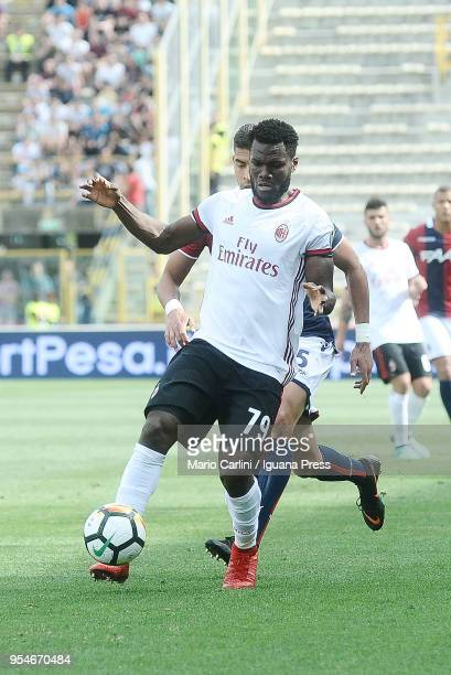 Franck Kessie of AC Milan in action during the serie A match between Bologna FC and AC Milan at Stadio Renato Dall'Ara on April 29 2018 in Bologna...