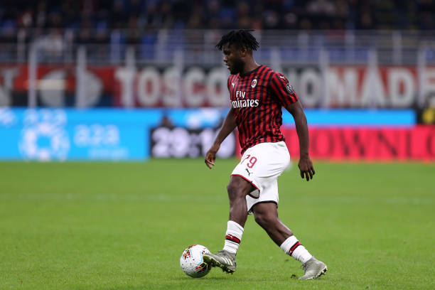 Franck Kessie of Ac Milan in action during the the Serie...