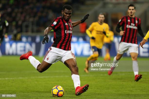 Franck Kessie of Ac Milan in action during the Tim Cup football match between AC Milan and Hellas Verona Fc Ac Milan wins 30 over Hellas Verona Fc