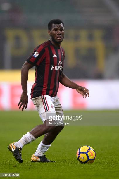 Franck Kessie of AC Milan in action during the TIM Cup football match between AC Milan and SS Lazio The match ended in a 00 tie