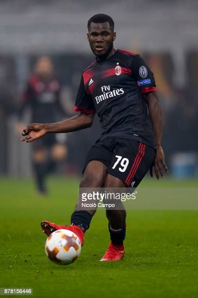 Franck Kessie of AC Milan in action during the UEFA Europa League football match between AC Milan and FK Austria Wien AC Milan wins 51 over FK...