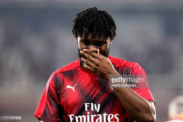 Franck Kessie of Ac Milan looks on before the Serie A match between Torino Fc and Ac Milan Torino Fc wins 21 over Ac Milan
