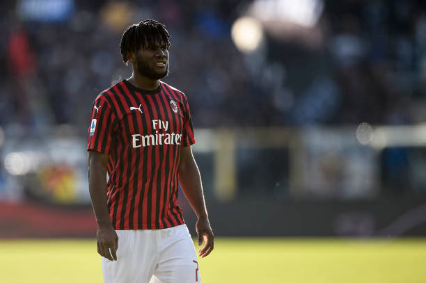 Franck Kessie of AC Milan looks on during the Serie A...