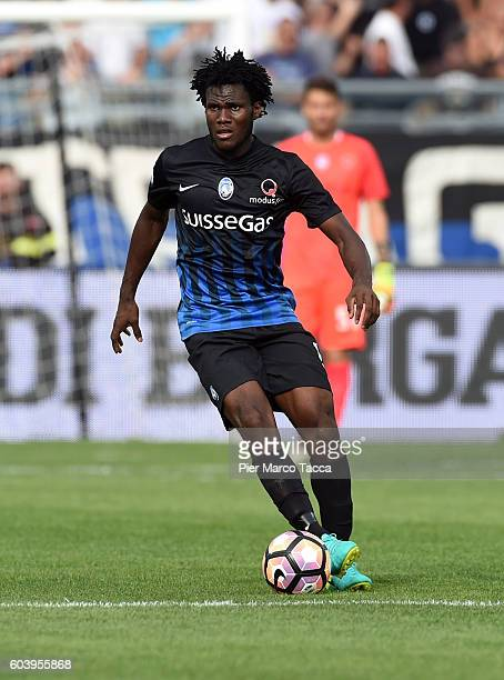 Franck Kessie of Atalanta BC in action during the Serie a match between Atalanta BC and FC Torino at Stadio Atleti Azzurri d'Italia on September 11...
