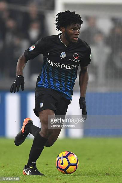 Franck Kessie of Atalanta BC in action during the Serie A match between Juventus FC and Atalanta BC at Juventus Stadium on December 3 2016 in Turin...